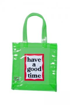 PVC CLEAR TOTE GREEN