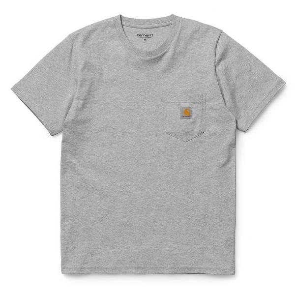 S/S POCKET T-SHIRT (I001304) Grey Heathe