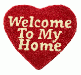 WELCOME TO MY HOME RUG MAT (red)