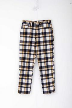 JT2 JEANS PLAID (WHITE)