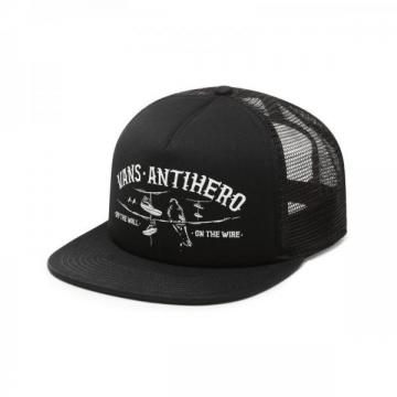 Vans X Anti Hero Wired Trucker Hat Black