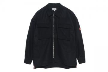 WOOL ZIP SHIRT JACKET