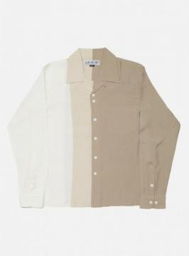 COLOR BLOCK RAYLON SHIRT (SOLID)