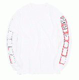 ANIMATION FRAME L/S TEE white