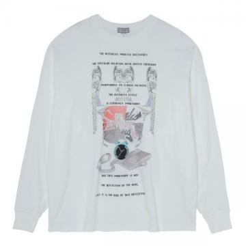 MD DECENTRE LONG SLEEVE T WHITE
