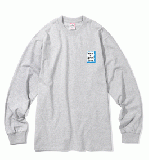 MINI BLUE FRAME L/S TEE HEATHER GREY