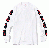 ARM BLACK FRAME L/S TEE WHITE
