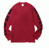 ARM BLACK FRAME L/S TEE CHERRY