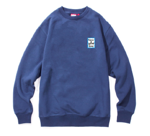 MINI BLUE FRAME CREWNECK AZURE