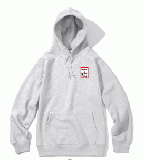 MINI FRAME PULLOVER HOODIE HEATHER GRAY