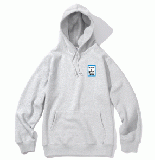 MINI BLUE FRAME PULLOVER HOODIE HEATHER GRAY