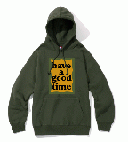MILITARY FRAME PULLOVER HOODIE MILITARY GREEN