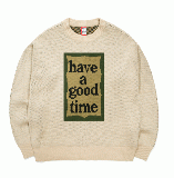 MILITARY FRAME CREW KNIT MILITARY BEIGE