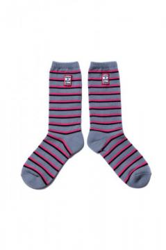 FRAME STRIPE SOCKS HEATHER GRAY