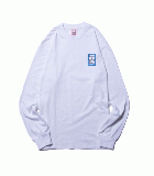 MINI BLUE FRAME L/S TEE WHITE