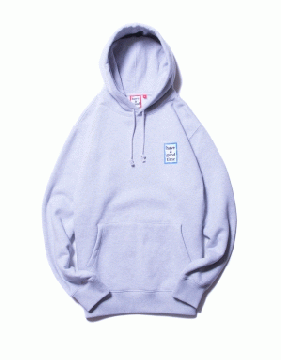 MINI BLUE FRAME PULLOVER HOODIE grey