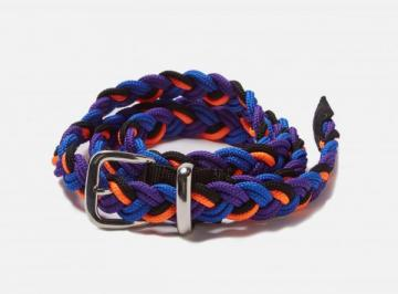 NARROW BRAIDED BELT (blue)