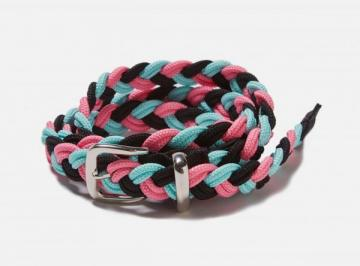 NARROW BRAIDED BELT (black)